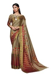 Soft Cotton Silk Embroidered Saree (Beige_Savannah)