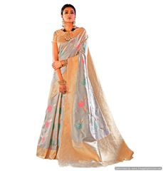 Soft Silk Handloom Weaven Saree (Blue_KS10)
