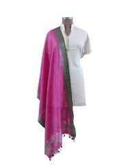 Handloom Linen Purple Solid Dupatta BLD11