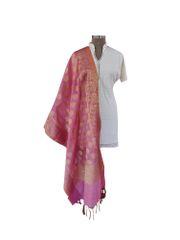 Benaras Kota Cotton Weaven Dupatta (Pink_BKCD03)