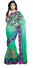 Sea Green Georgette Saree SC1111