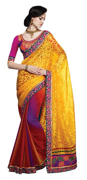 Yellow Brasso Georgette SC1110