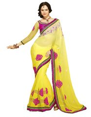 Yellow Georgette Saree SC1003