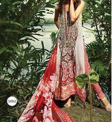 Designer Pakistani Printed Glazed Cotton Off White Pant Style Dress material F5002