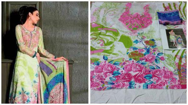 Designer Pakistani Replica Gul White Light Embroidered Dress Material Gul11007