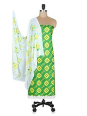 Designer Screen Printed Cotton Shalwar Kameez Dress Material ABP69