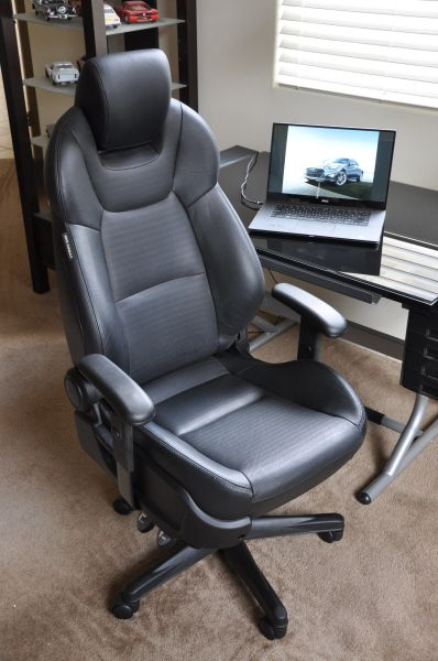 SOLD Thank You! - Hyundai Genesis Coupe Leather Office Chair - Black