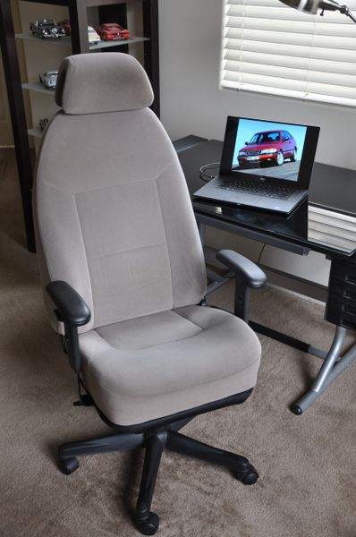 SOLD Thank You! SAAB 900 SE Fabric Office Chair - Gray