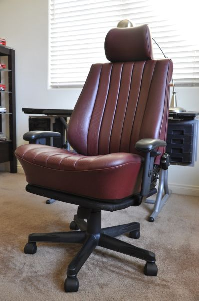 SOLD Thank You! Mercedes-Benz 190E MB-Tex Office Chair - Middle Red