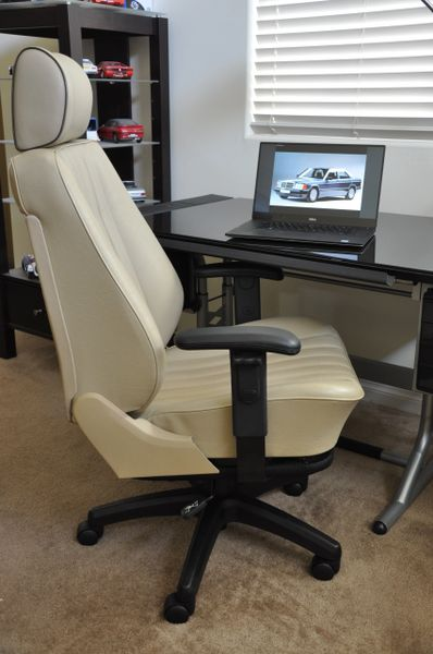 SOLD Thank You! Mercedes-Benz 190E 2.6 MB-Tex Office Chair - Cream Beige