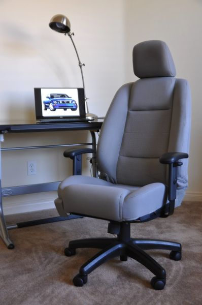 SOLD Thank You! - Ford Mustang Cloth Office Chair - Light Graphite