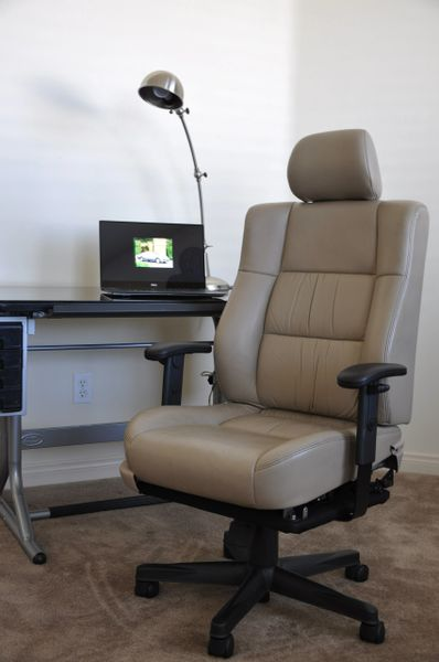 SOLD Thank You! - Lexus ES300 Power-Operated Leather Office Chair - Ivory
