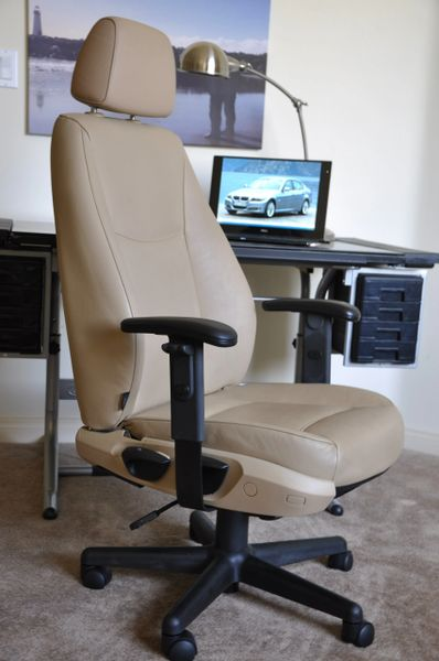SOLD Thank you! - BMW 325i (E90) Leather Office Chair - Beige