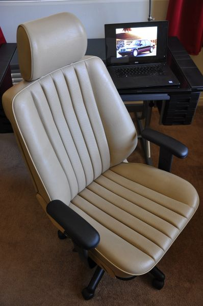 SOLD Thank You! - Mercedes-Benz 190E MB-Tex Office Chair - Cream Beige