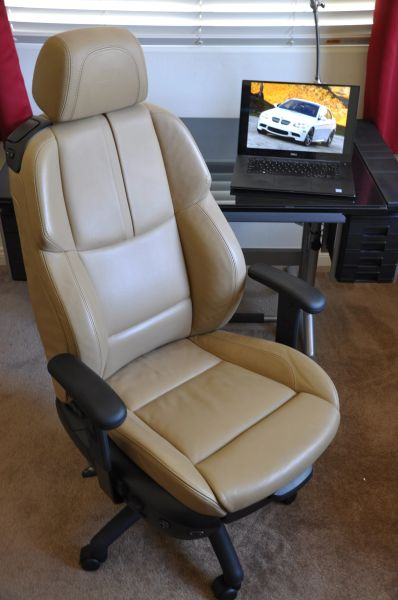 SOLD Thank You! - BMW M3 Power-Operated Leather Office Chair - Bamboo Beige