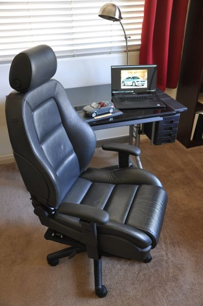 SOLD Thank You! - Audi TT Quattro Leather Office chair - Black