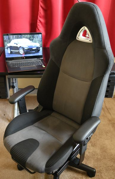 SOLD Thank You! - Mazda RX-8 Fabric Office Chair - Gray