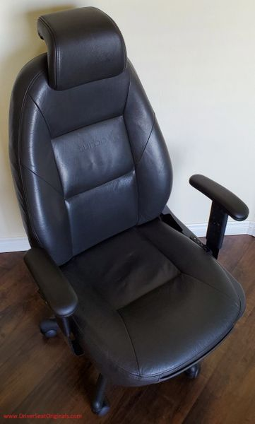 SAAB 9-3 SE Power-Operated Leather Office chair - Black