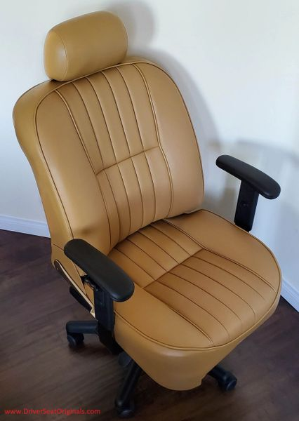 Jaguar XJ6 Leather Office Chair - Biscuit