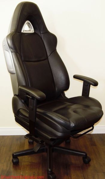 Mazda RX-8 Leather Office Chair - Black