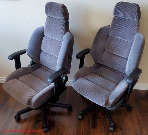 Honda Prelude Fabric Office Chair Matching Pair - Gray