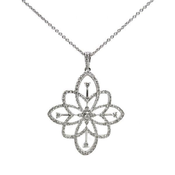 Peter Storm Diamond Flower Necklace
