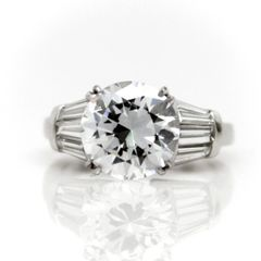 Baguette Diamond Semi Mount Ring