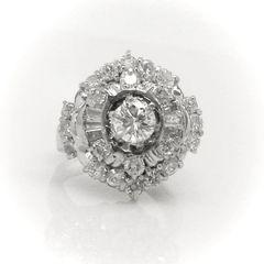 Diamond Halo Fashion Ring