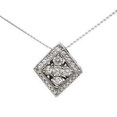 Diamond Shaped Diamond Pendant