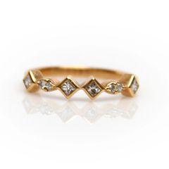 Peter Storm Rose Gold Geometric Diamond Band