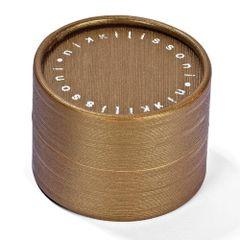 Nikki Lissoni Golden/Brown Round Gift Box