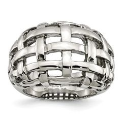Stainless Steel Woven Ring