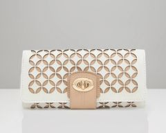 Chloe Jewelry Roll Light and Tan