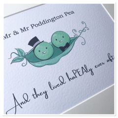 MR & MR wedding PEAS in a pod (A4 print only)