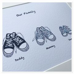 Sneaker Family Print (upto 7 members including pets) PRINT & MOUNT ONLY