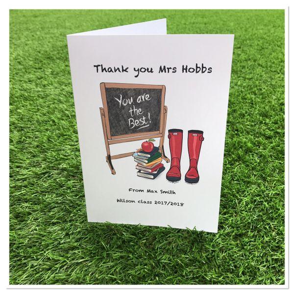 Thank you teacher card and envolope (A5 card)