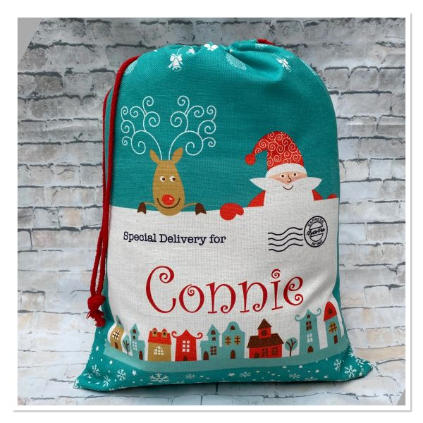 Personalised Santa sacks ( GREEN)