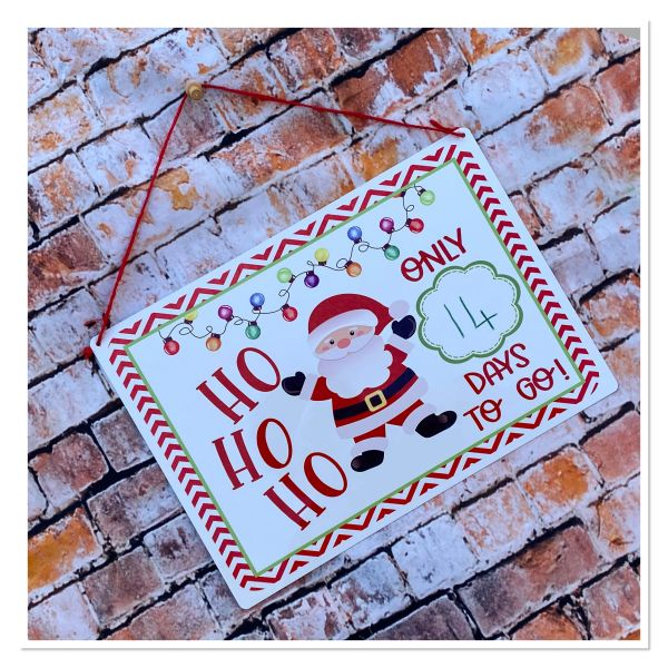 Christmas countdown aluminium board with dry wipe magnetic pen
