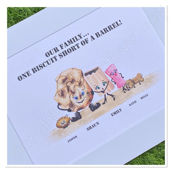 Oh crumbs..... A4 print only (Up to10 family members including pets)