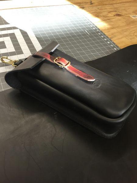 Single Oiled Latigo Saddle Bag