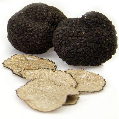 italian black summer truffle slices