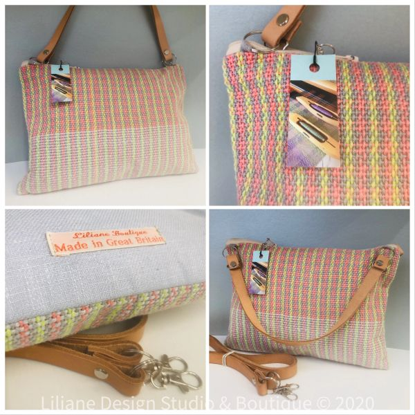 Handwoven cotton fabric shoulder bag