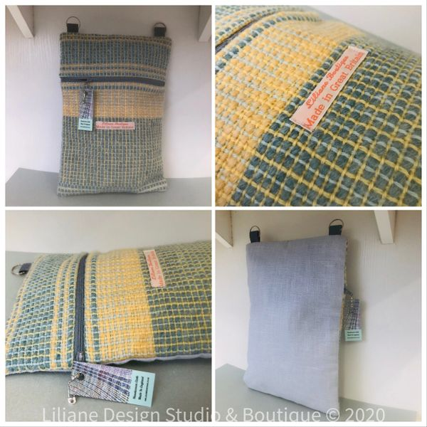 Messenger bag - made in handwoven wool cloth