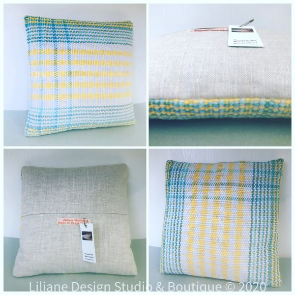 Handwoven accent cushion - small size