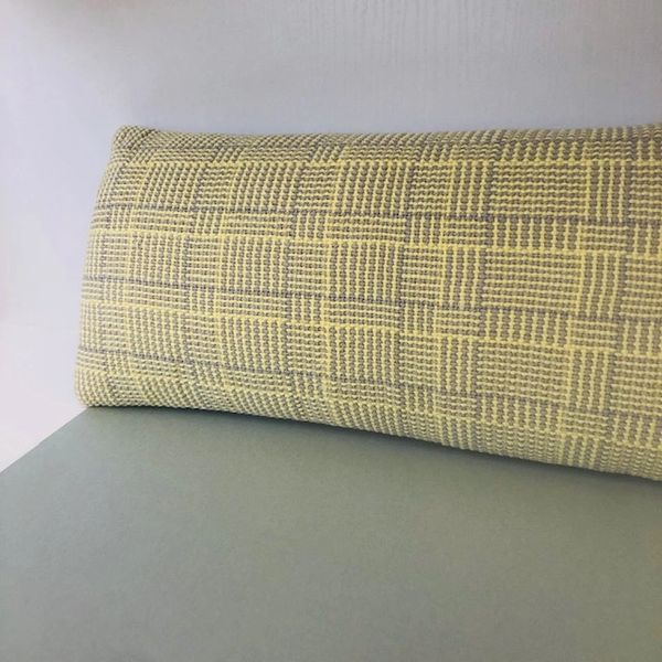 Handwoven cushion cover - Accent cushion with duck feather filled pad