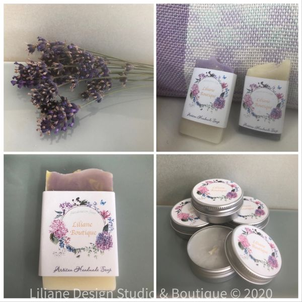 Pure soy wax mini soap and candles