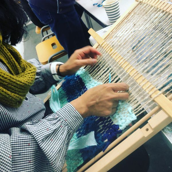 Weekly weaving for wellbeing group workshop