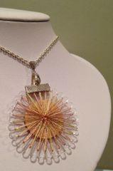 Thread wrapped necklet