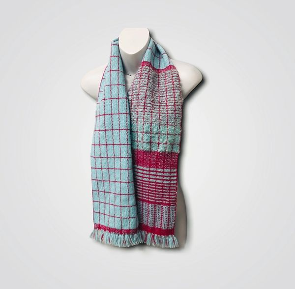 Handwoven Scarf - Rupert textured check