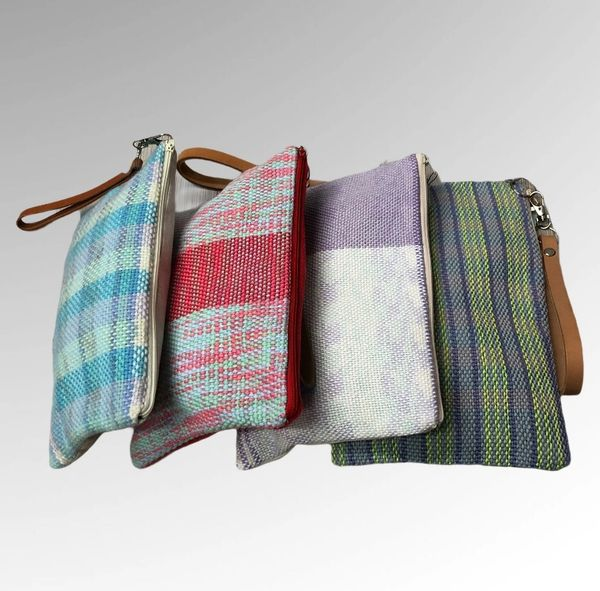 Handwoven cotton collection - medium clutch style